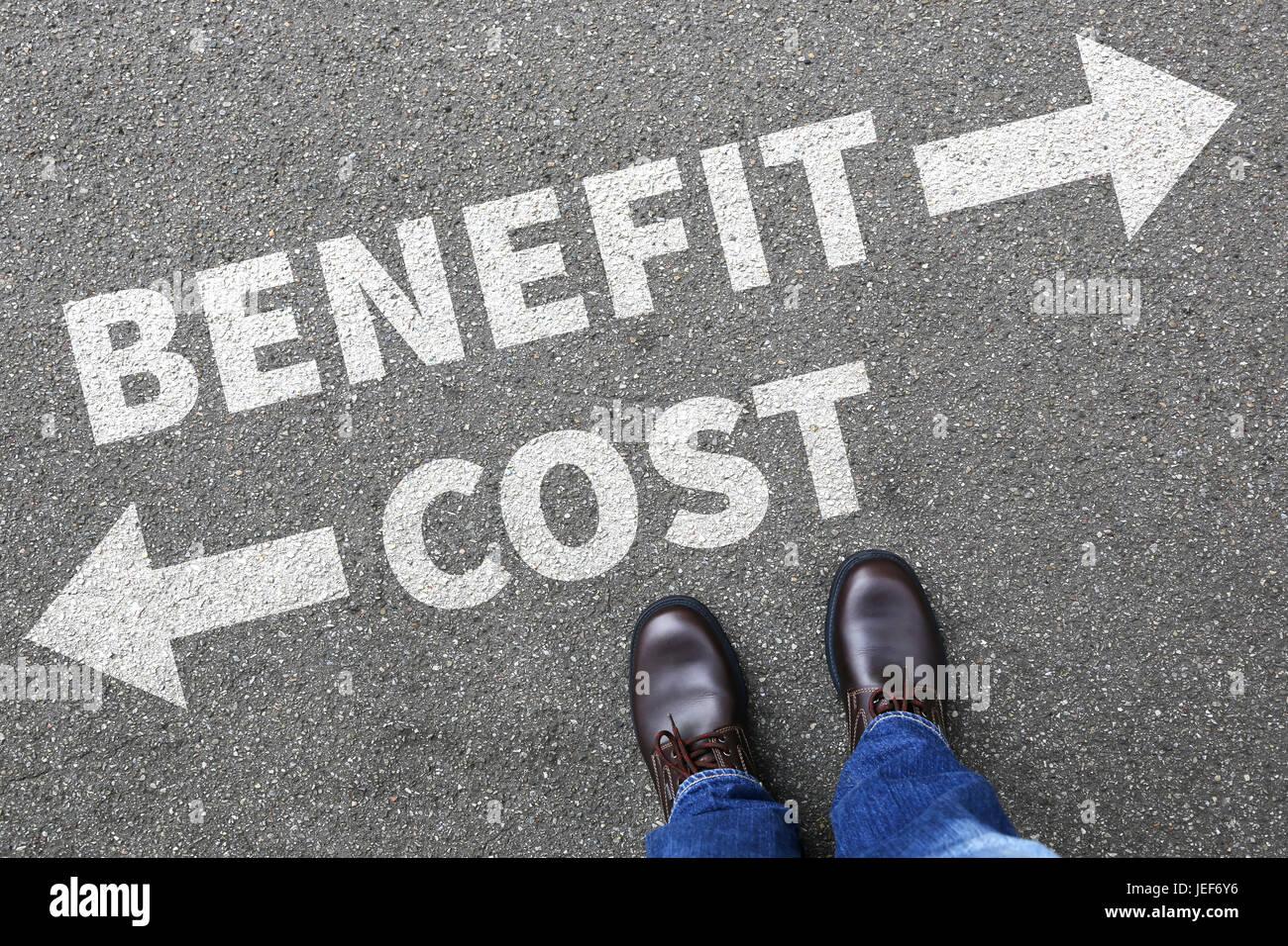 Cost benefit loss profit finances financial success company business concept - Stock Image