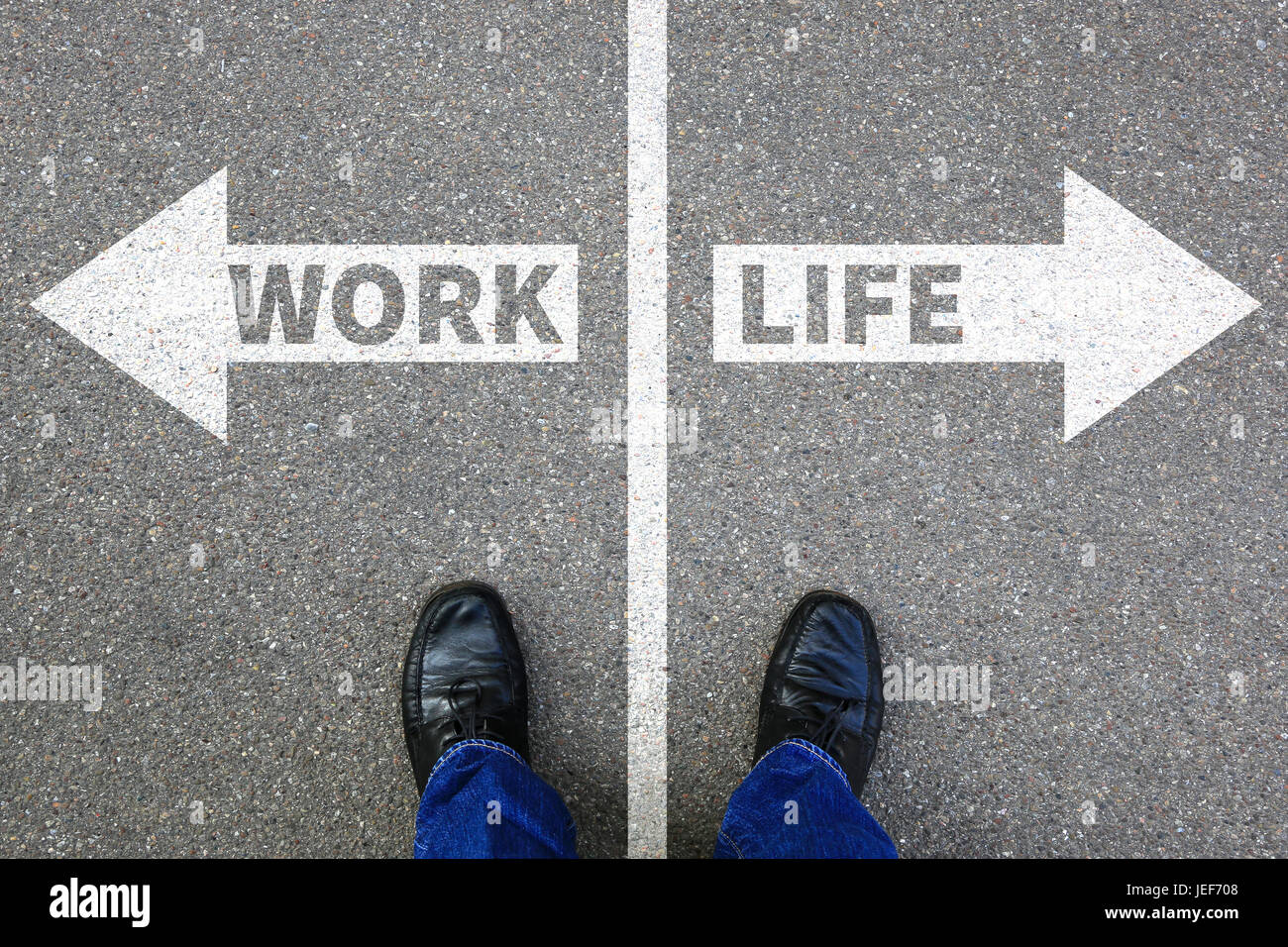 Work life balance living stress stressed relax relaxed health business concept healthy - Stock Image