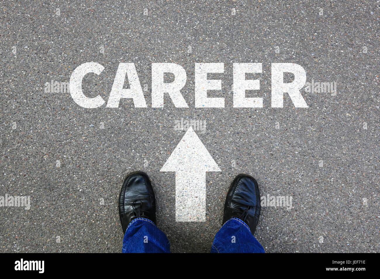 Career opportunities goals success successful rich businessman business man concept - Stock Image