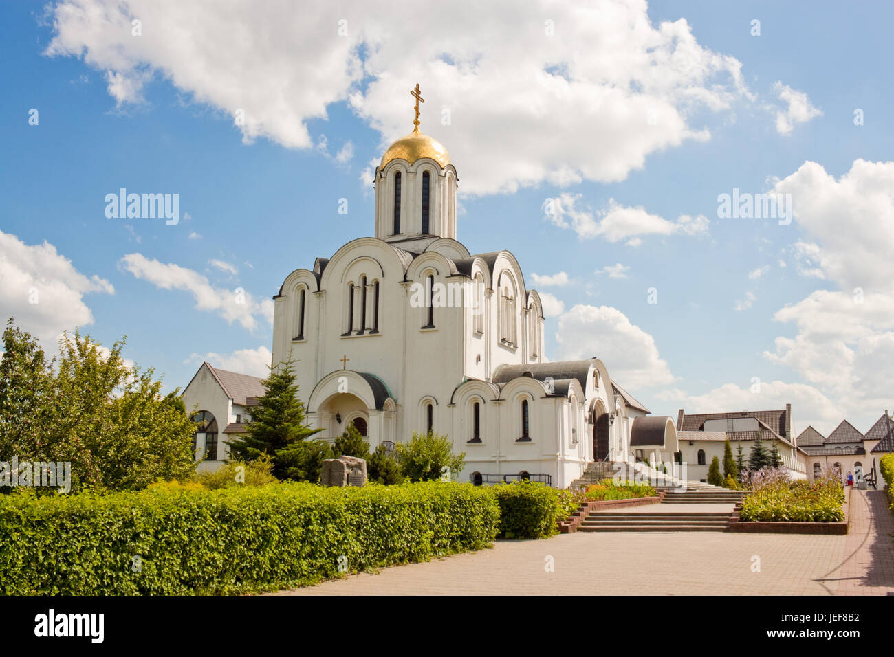Orthodox church Mother of God Joy of All Who Sorrow in Minsk, Belarus. - Stock Image