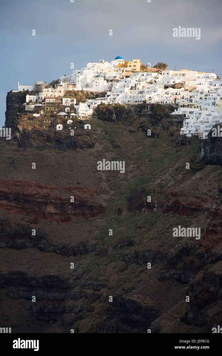 Fira, on the island Thira or Thera, is a small town on the giechischen archipelago Santorin on the Cyclades., auf Stock Photo