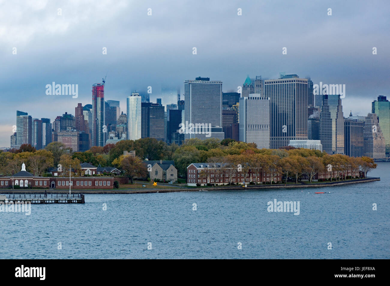 New York city is a cosmopolitan city on the east coast of the United States., New York City ist eine Weltstadt an - Stock Image