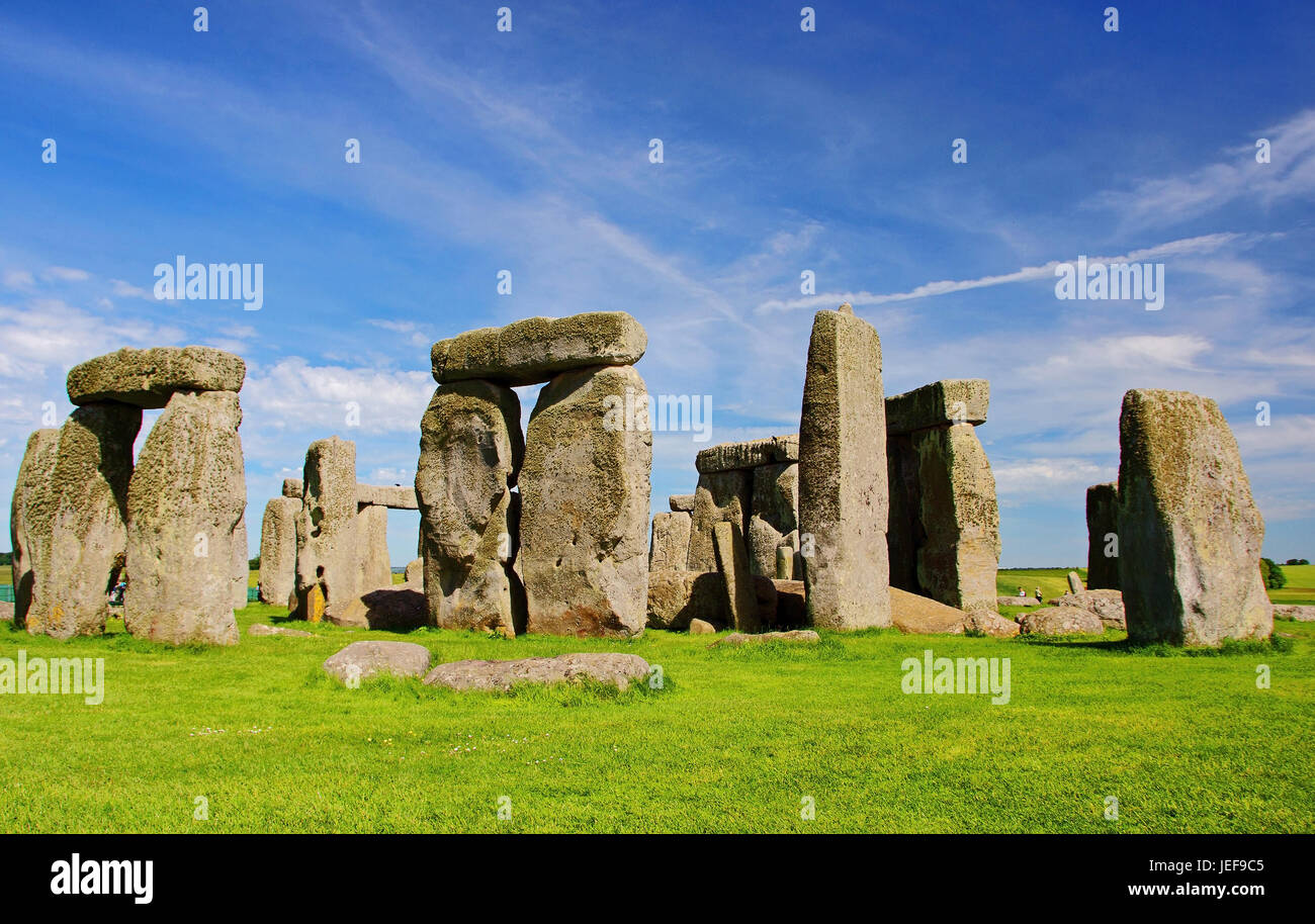 Stonehenge, Wiltshire, Great Britain, Grossbritannien - Stock Image