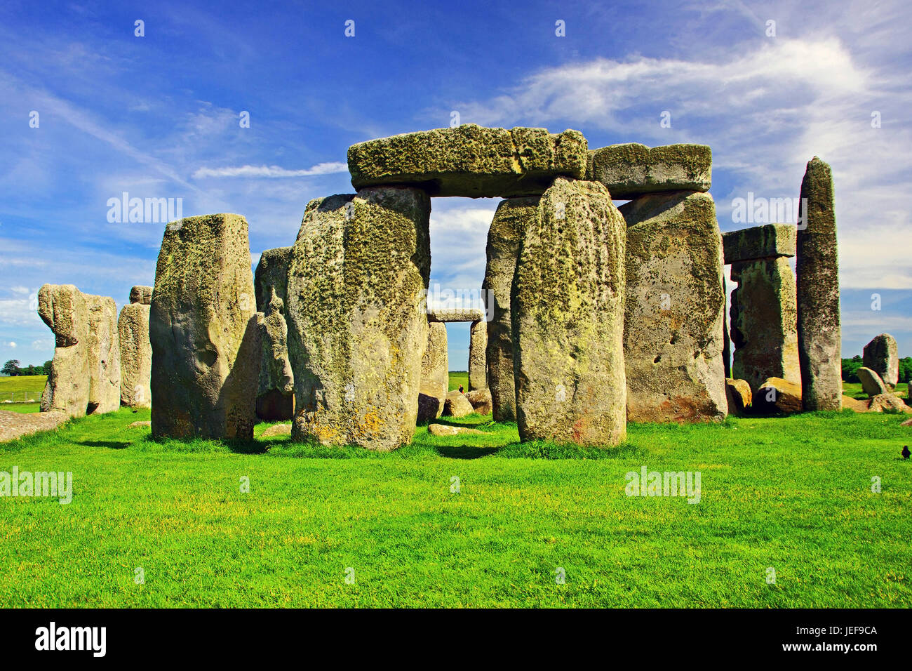 Stonehenge, Wiltshire, Great Britain, Grossbritannien Stock Photo