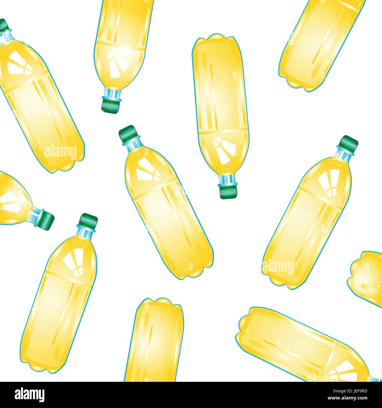 Bottles with juice - Stock Image