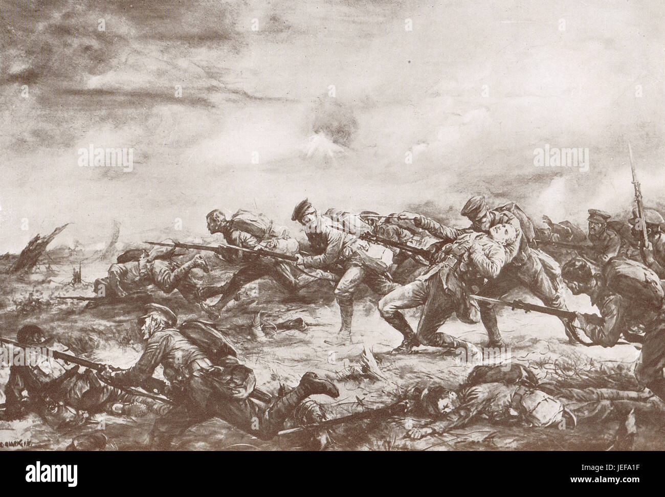 Canadian Charge 2nd battle of Ypres 1915 - Stock Image