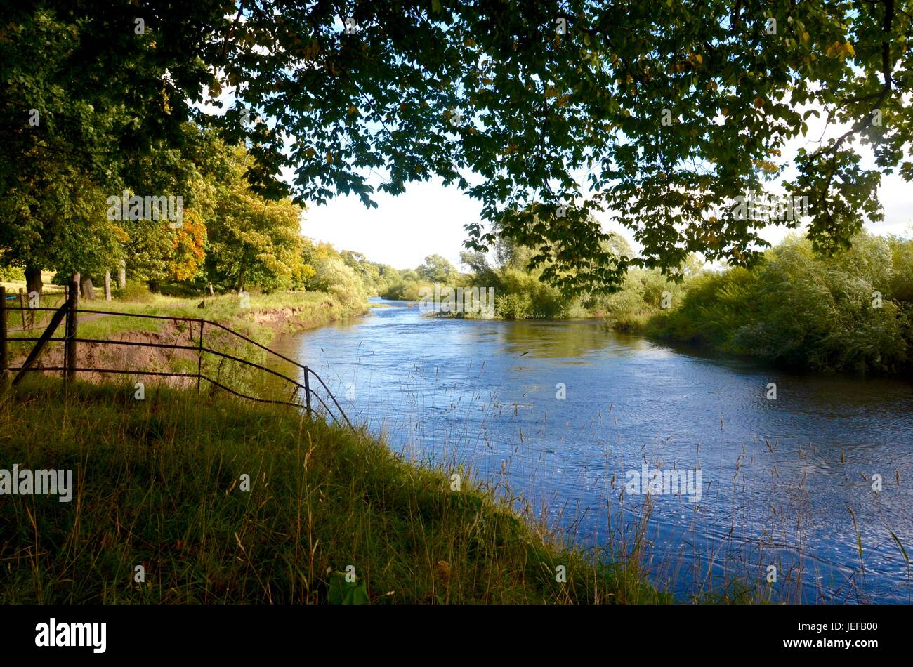 The River Clyde at Barons Haugh in Motherwell Stock Photo