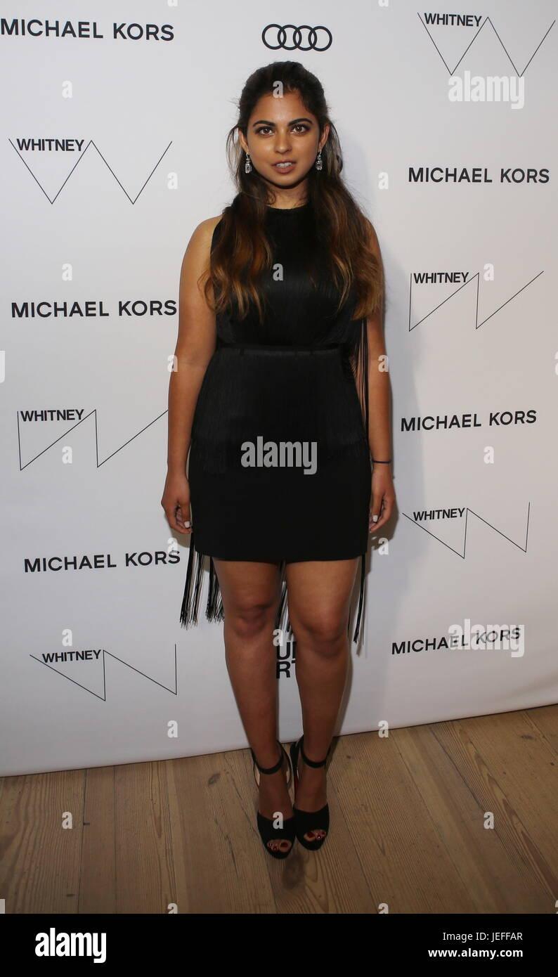 The Whitney Museum Annual Studio Party - Arrivals  Featuring: Isha Ambani Where: New York, New York, United States - Stock Image