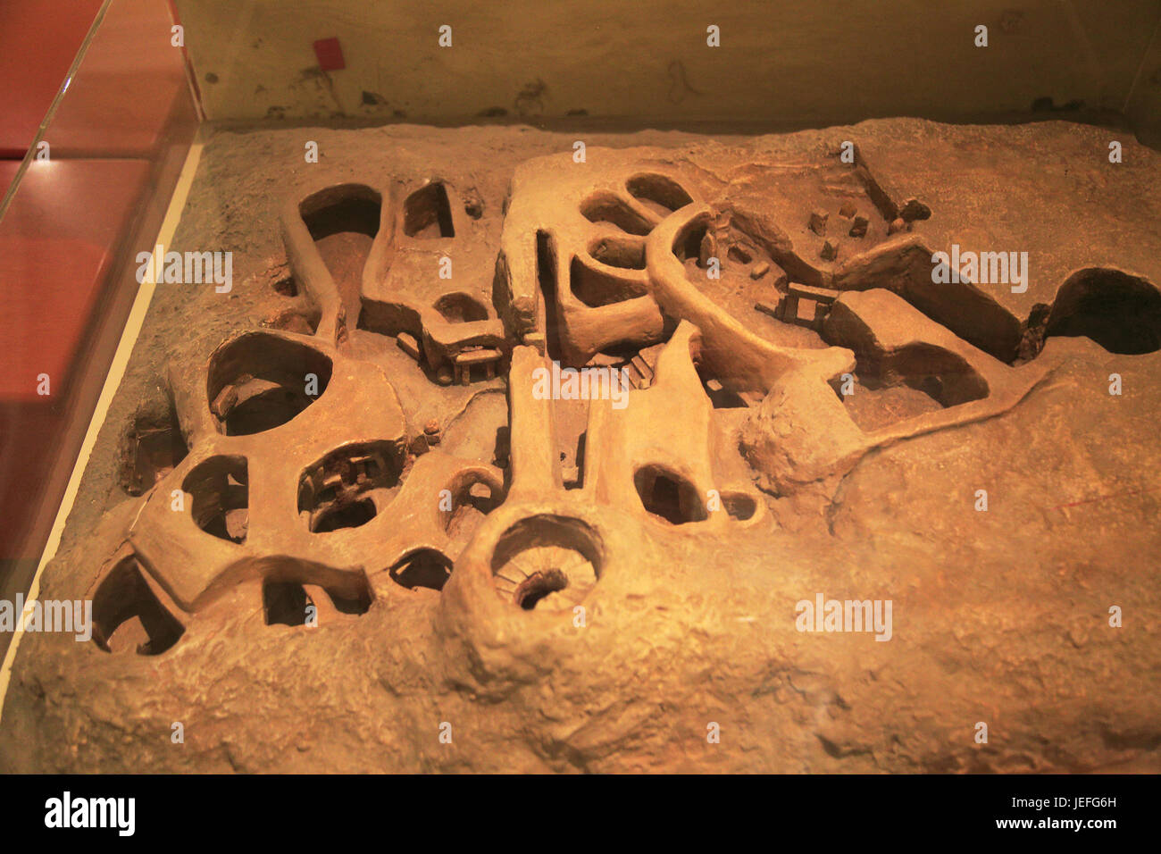 Hal saflieni hypogeum model layout in national museum of