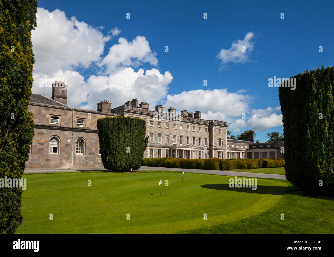 Built in 1739, Carton House was an estate and the great house designed by Richard Cassels was the ancestral seat - Stock Image