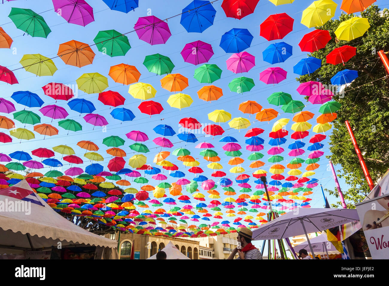 food Festival of different cultures, Torremolinos, Andalusia, Spain. - Stock Image