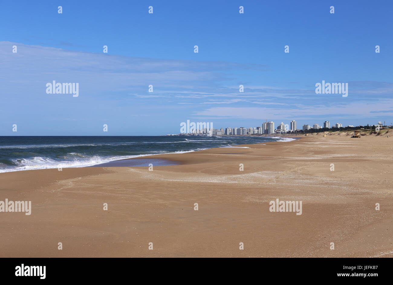 Beach in Front of Punta del Este, Uruguay April 2017 Stock Photo