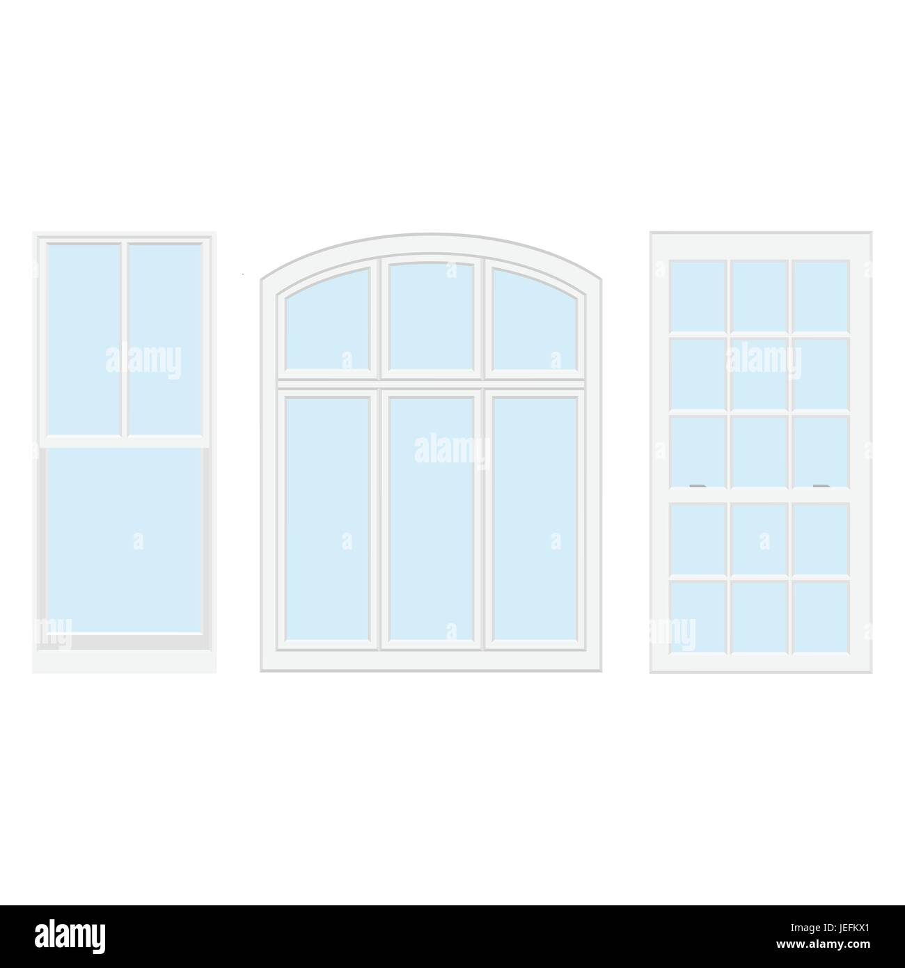 Vector Collection Of Various Windows Types For Interior And Exterior Stock Vector Image Art Alamy