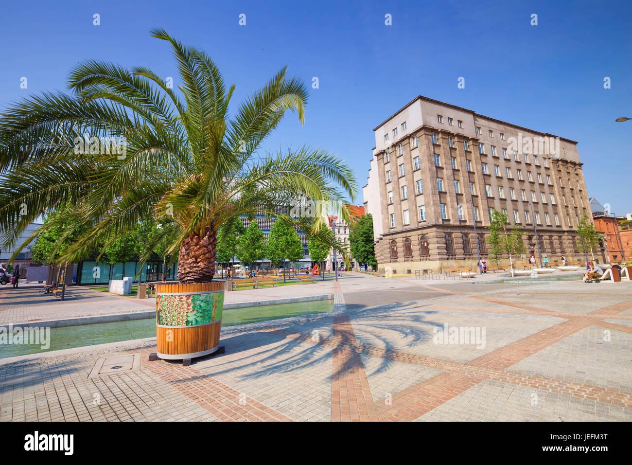Katowice in poland / marketplace Stock Photo