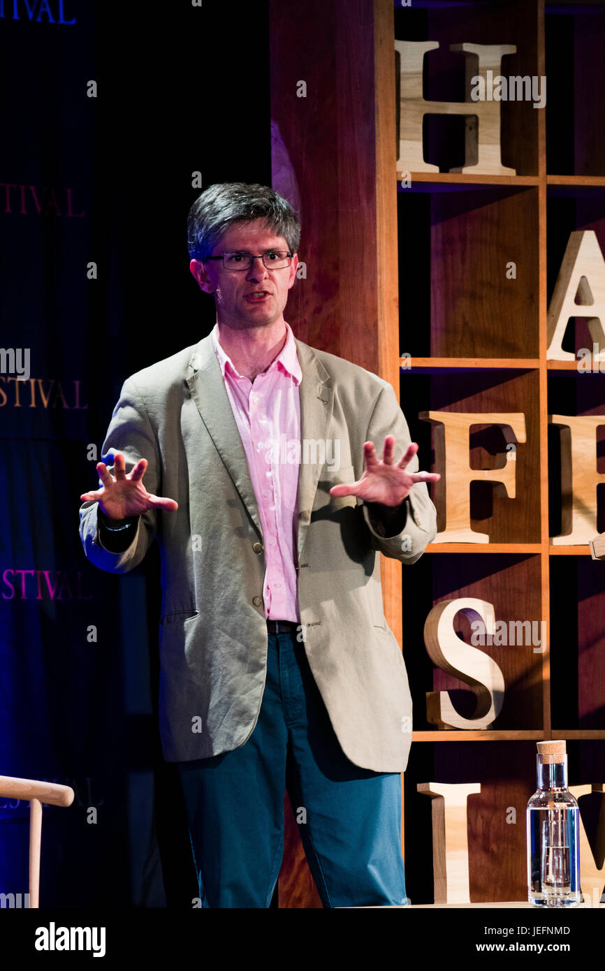 ALEC RYRIE Professor of the History of Christianity at Durham University,   at the 2017 Hay Festival of Literature Stock Photo