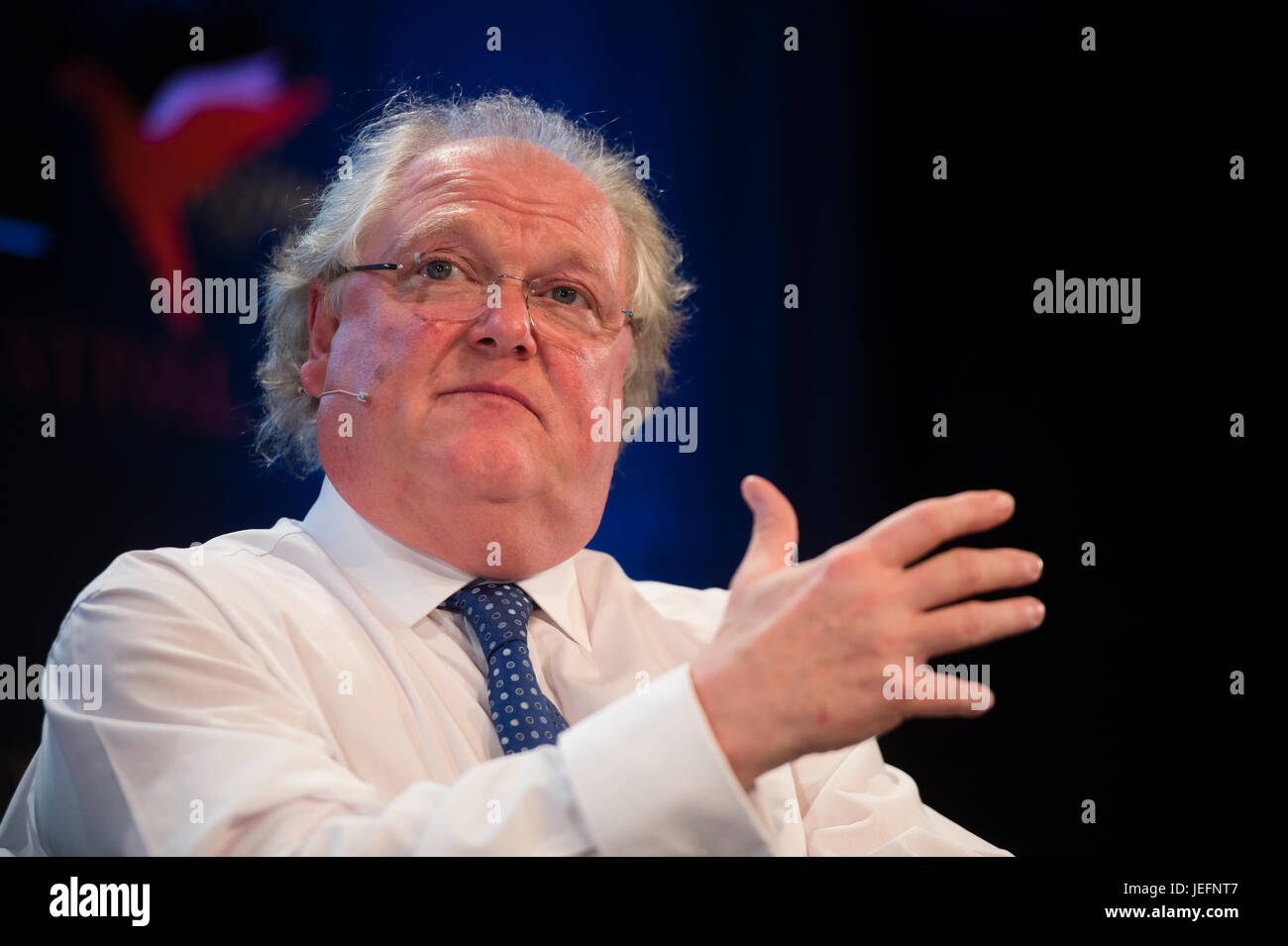 Entrepreneur DIGBY JONES  at the 2017 Hay Festival of Literature and the Arts, Hay on Wye, Wales UK - Stock Image