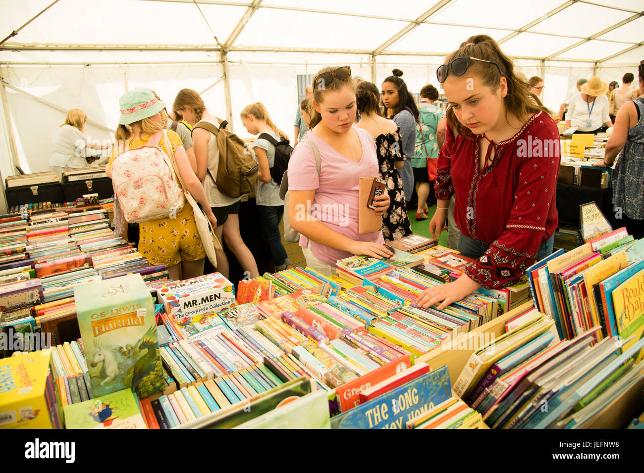 The 30th anniversary Hay Festival of Literature and the Arts, Hay on Wye, Wales UK, May 2017 - Stock Image