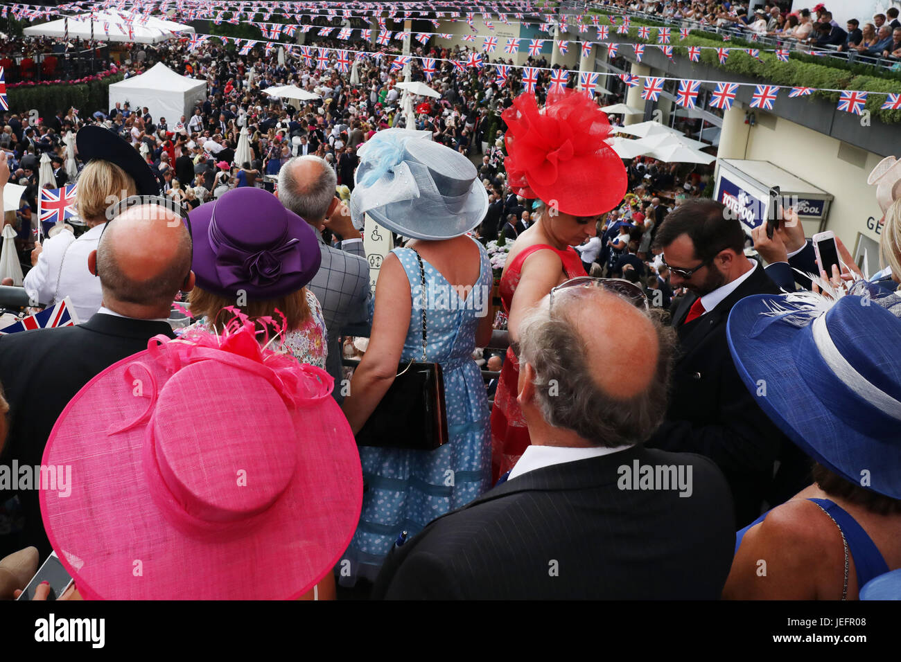 Ascot, UK. 22nd June, 2017,Royal Ascot races , Ladies Day, England - Stock Image