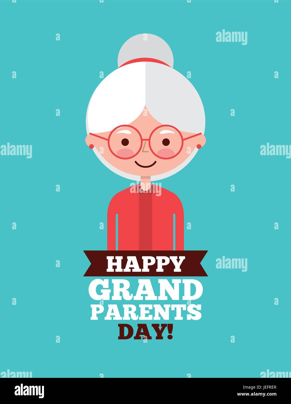 Grandparents day design - Stock Image