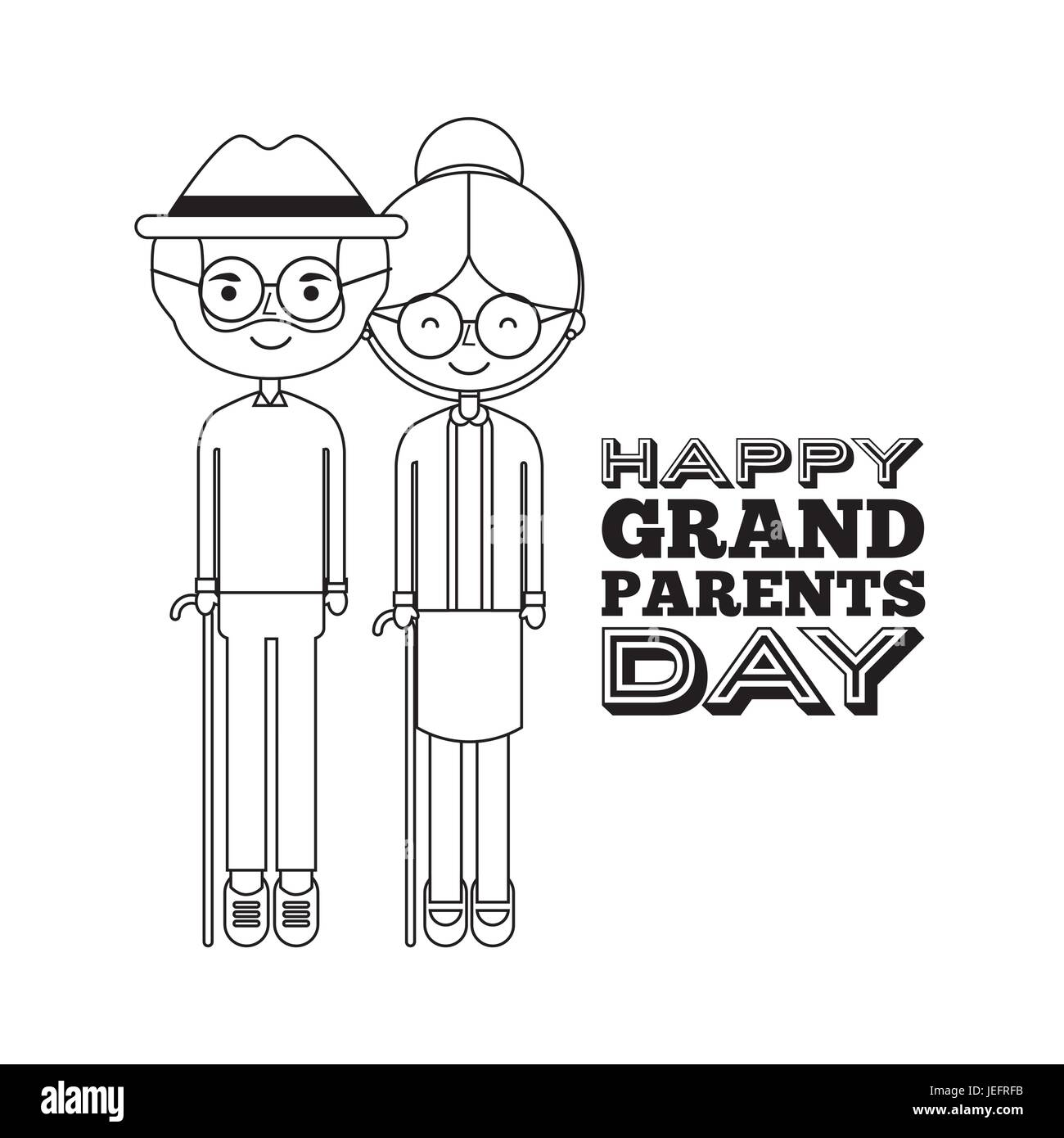 Happy grandparents day - Stock Image