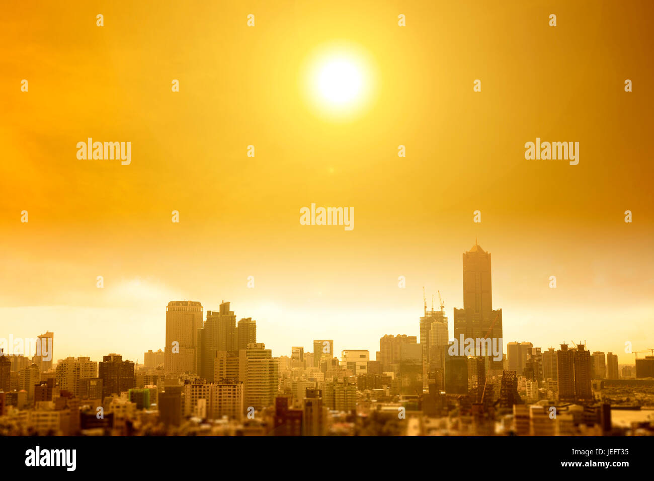 summer heat wave in the city - Stock Image