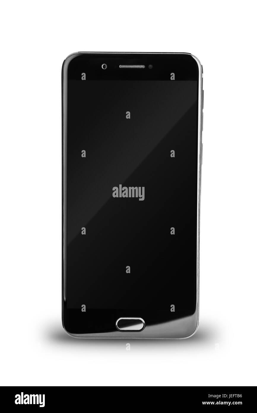 Smartphone isolated on white background - Stock Image