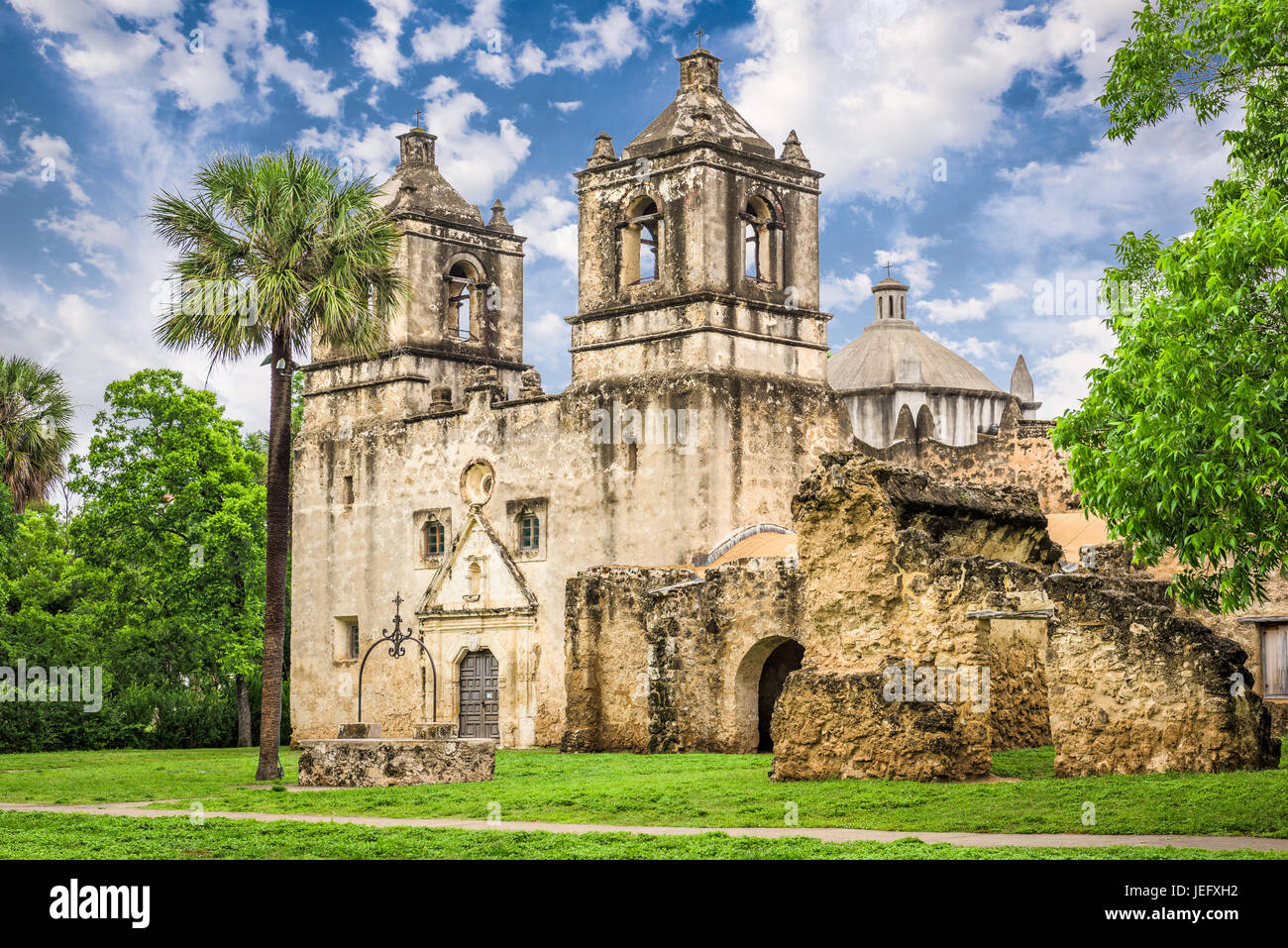 San Antonio, Texas, USA at Mission San Jose. - Stock Image