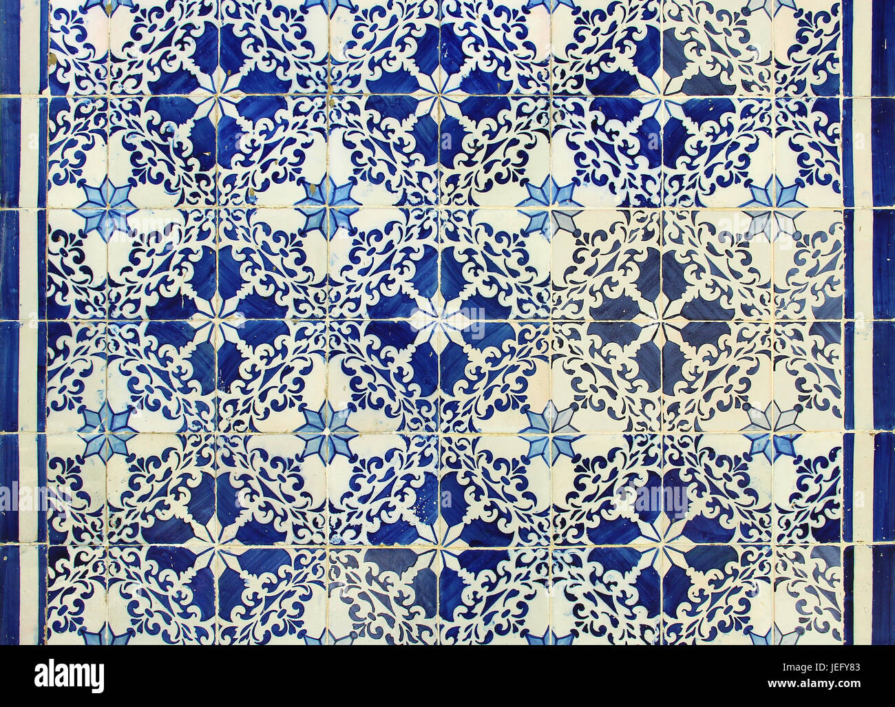 Traditional Portuguese azulejos tiles - Stock Image