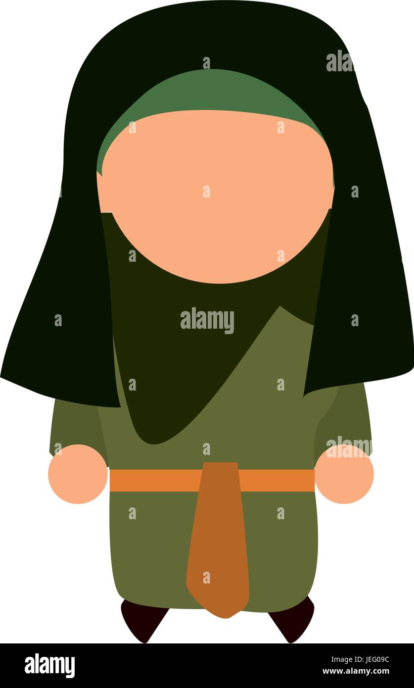 jew woman shayla - Stock Vector