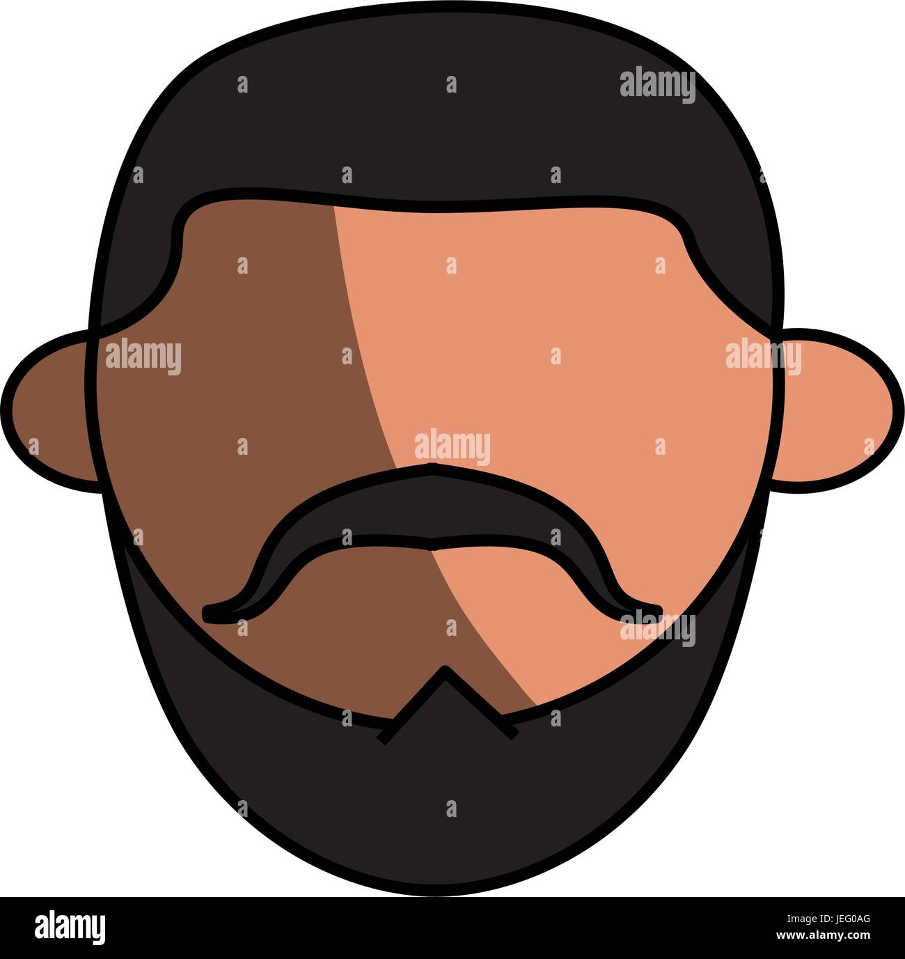 Jew using kipa - Stock Vector