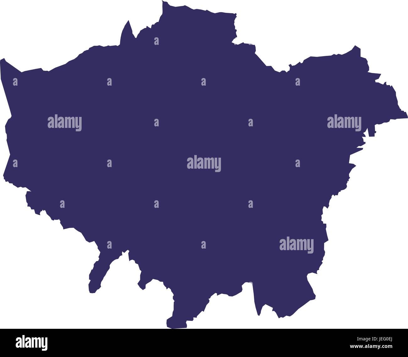 Englan map silhouette - Stock Vector