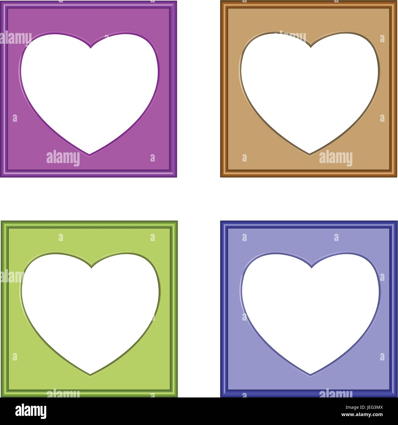 Heart And Frames Stock Photos & Heart And Frames Stock Images - Alamy