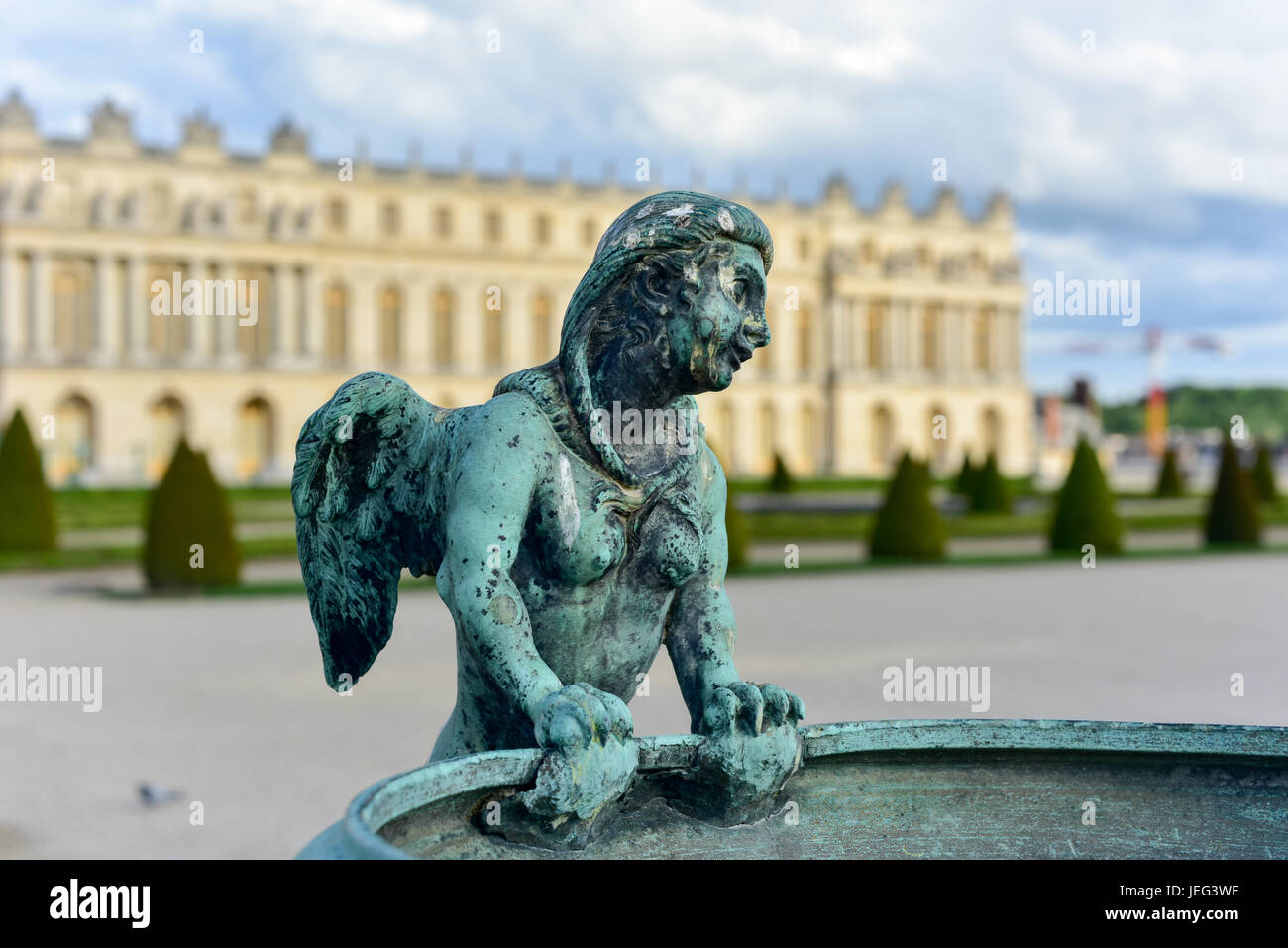 The famous Palace of Versailles in France. - Stock Image