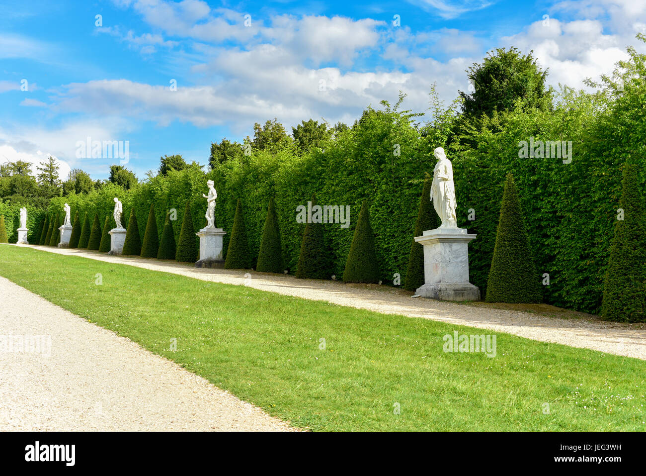 The famous Palace of Versailles in France. Stock Photo