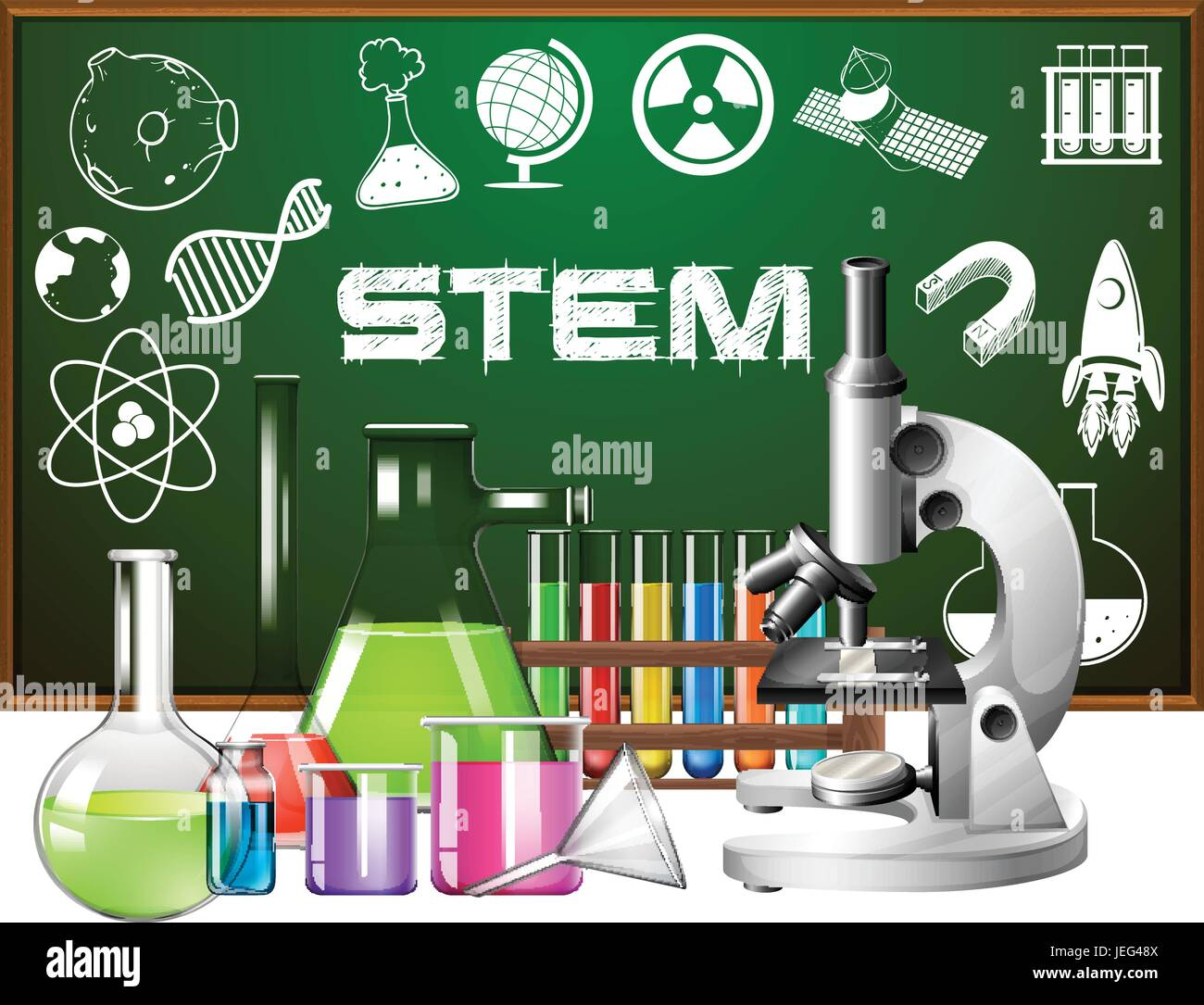 Poster Design For Stem Education With Science Tools