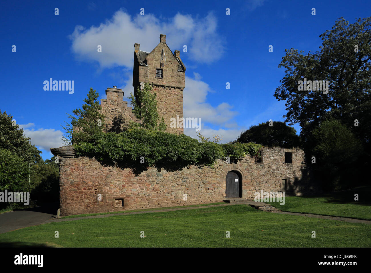 Mains Castle, also known as Claverhouse Castle or Fintry Castle in Dundee, Scotland - Stock Image