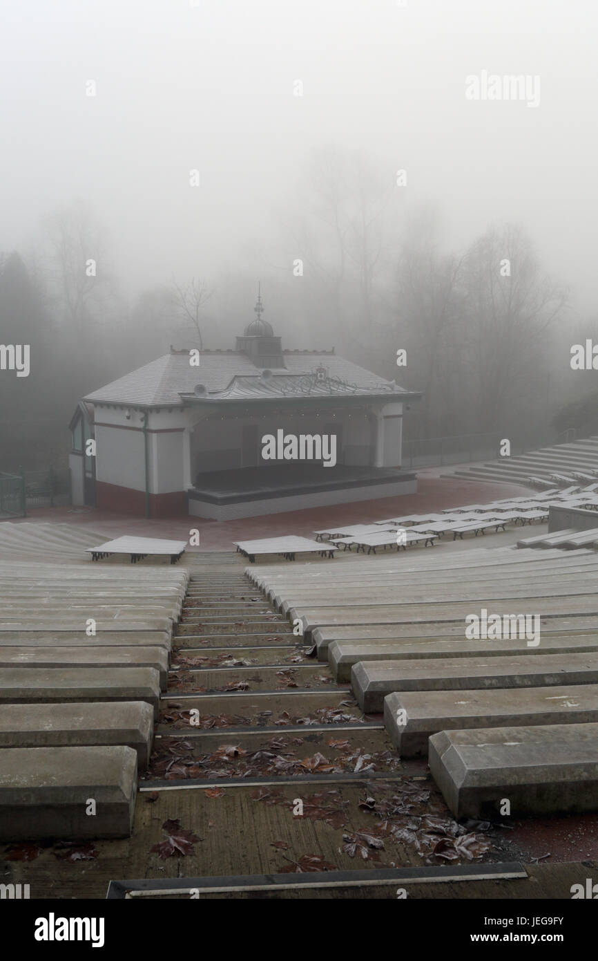 Glasgow Kelvingrove Bandstand and Amphitheatre was built in 1924 it went through refurbishment and reopened in 2014. - Stock Image
