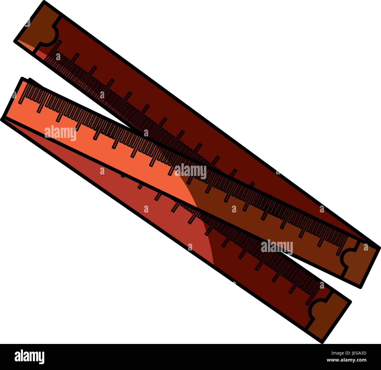 Meter body measurement - Stock Image