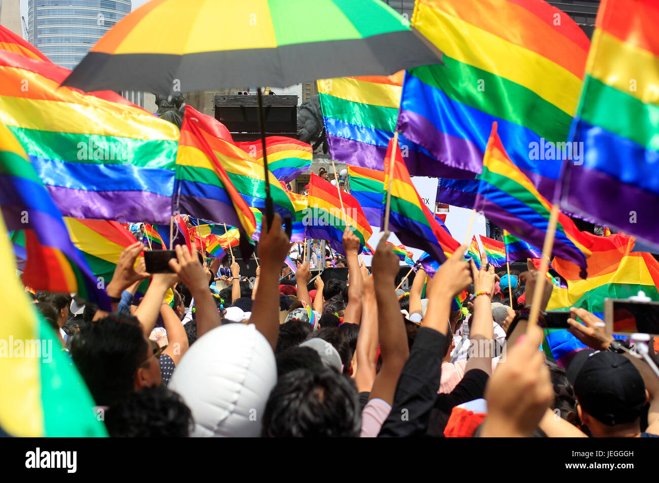 People Take Part In The 39th Gay Pride Parade In Mexico City Capital Of Mexico On June 24 2017 Credit Str Xinhua Alamy Live News
