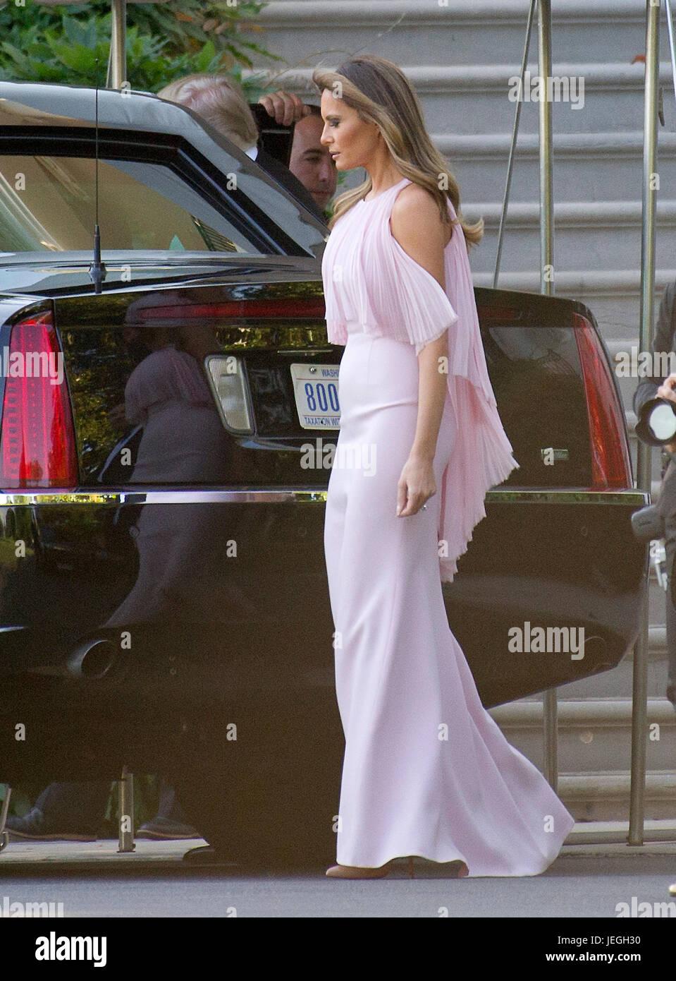 Melania Trump Wedding Stock Photos Melania Trump Wedding Stock