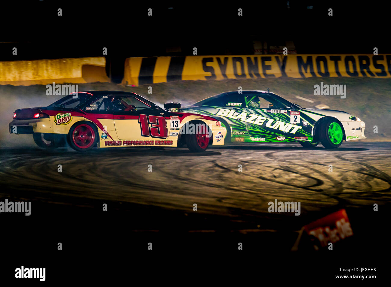 Sydney Motorsport Park, Australia. 24th June 2017.  Jabbit & Aaron Dewar in an epic battle. Anthony Bolack/Alamy Stock Photo