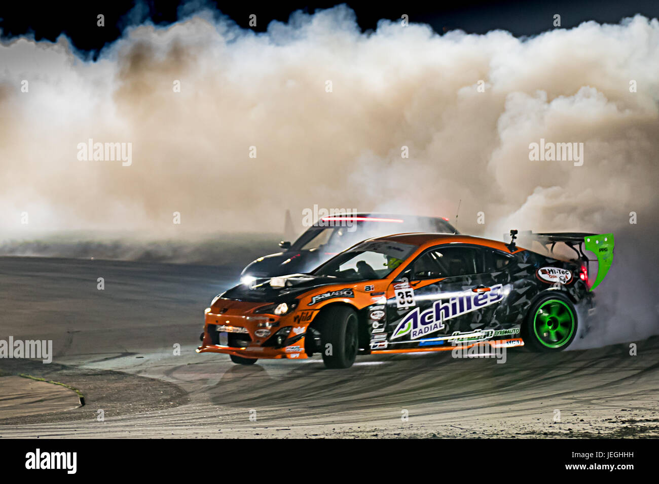 Sydney Motorsport Park, Australia. 24th June 2017.  Brad Tuohy in battle round with Anthony Bilic. Anthony Bolack/Alamy - Stock Image
