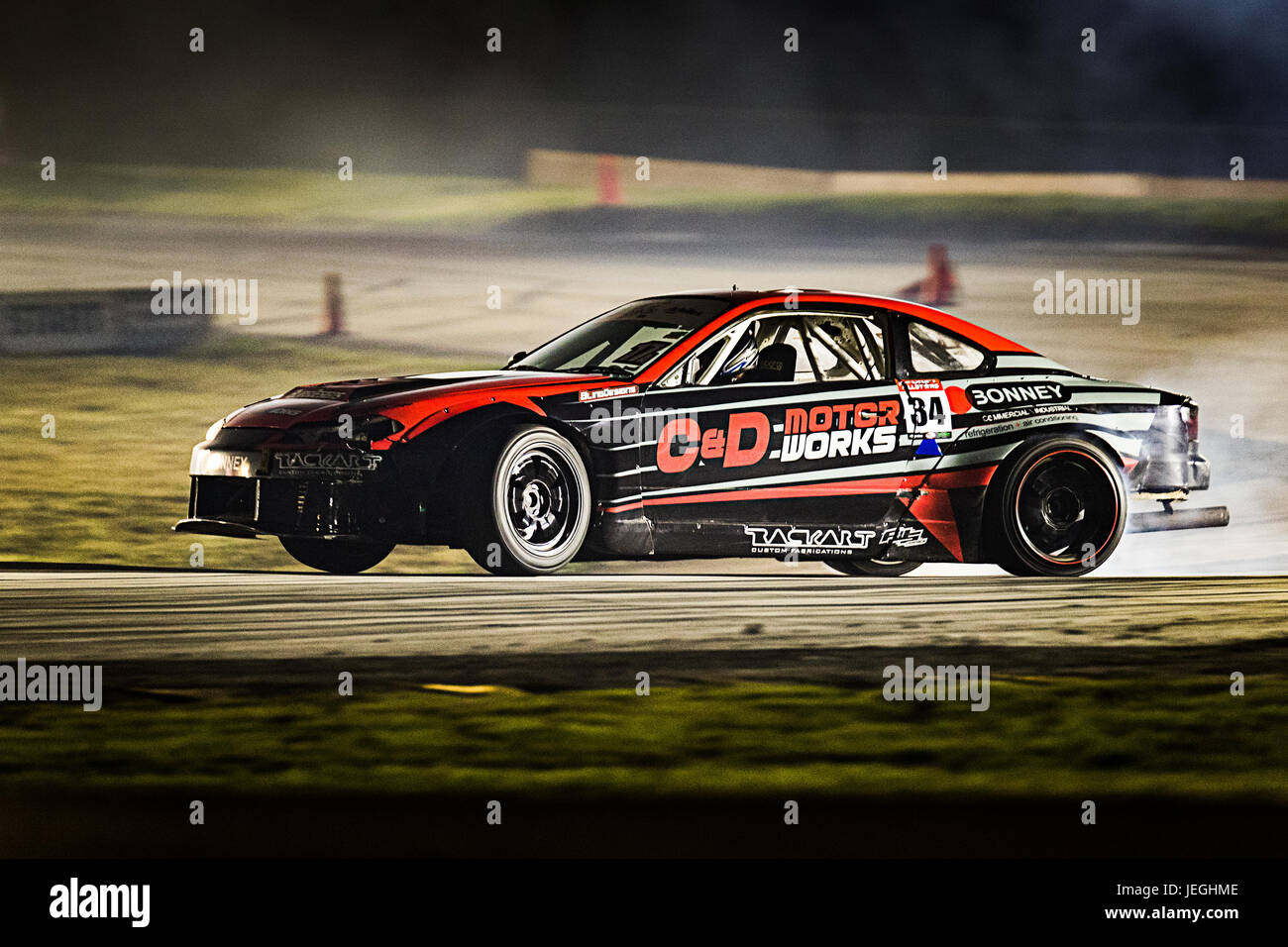 Sydney Motorsport Park, Australia. 24th June 2017.  Michael Bonney visited from Victoria in his Nissan S15. Anthony - Stock Image