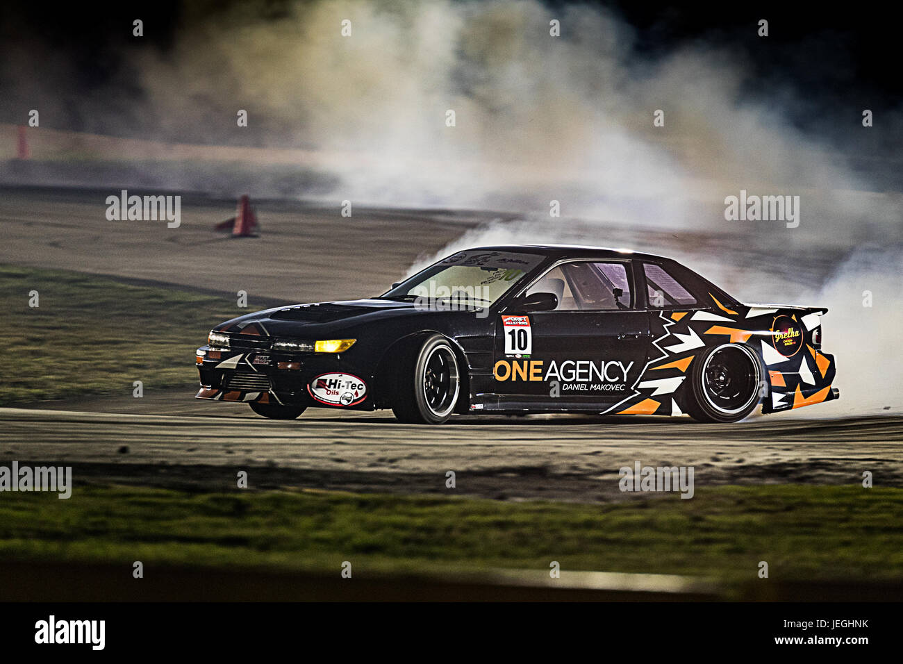 Sydney Motorsport Park, Australia. 24th June 2017.  Qualifying for Josh Kelly in his Nissan 180SX. Anthony Bolack/Alamy - Stock Image