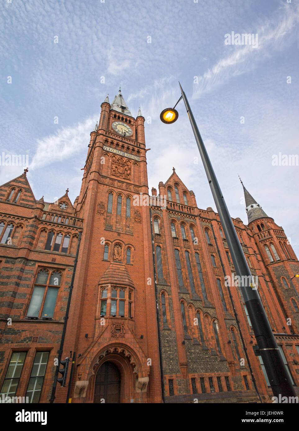 Victoria Building, University of Liverpool, Brownlow Hill, Liverpool, UK - Stock Image