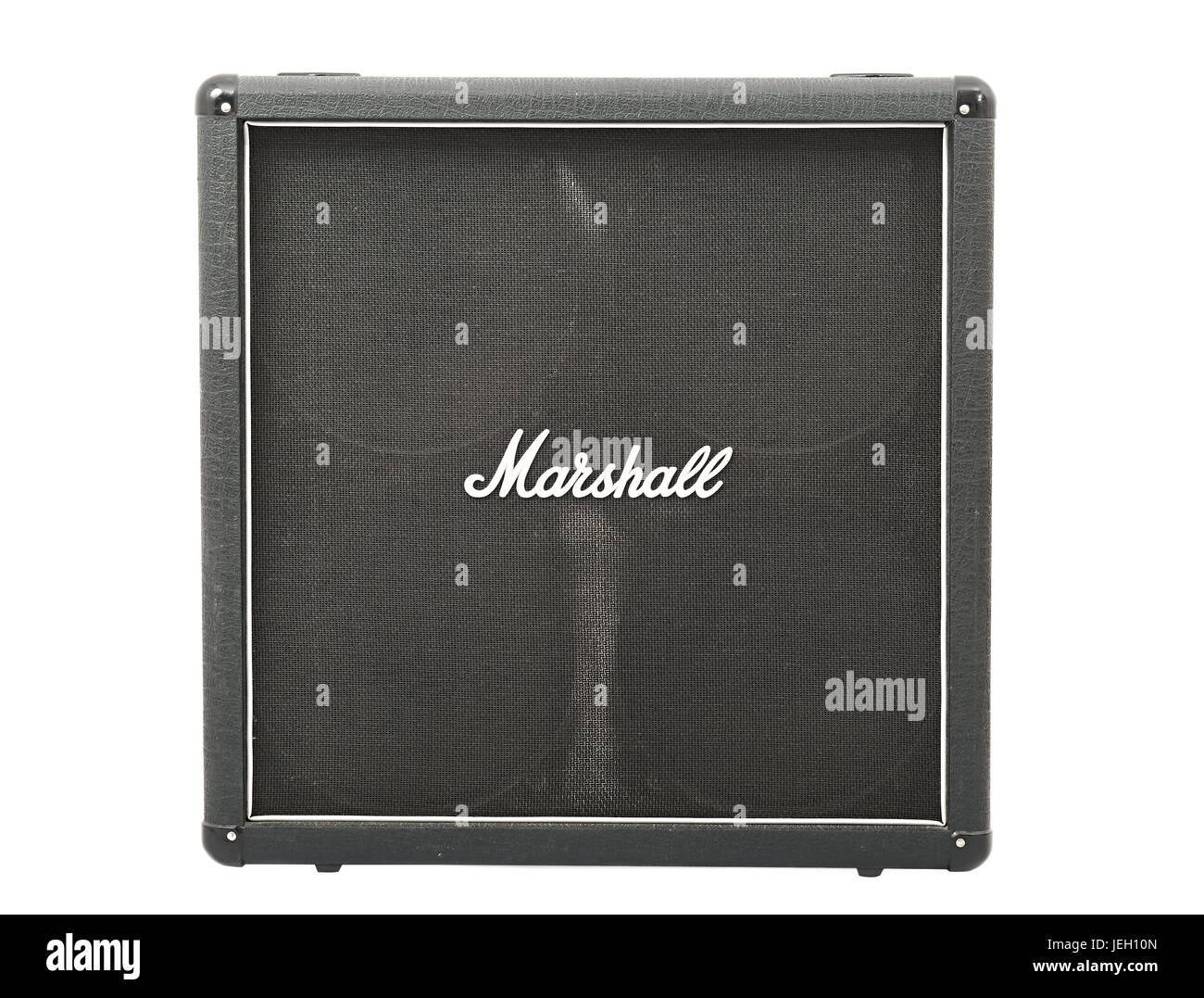 Marshall guitar cabinet - Stock Image