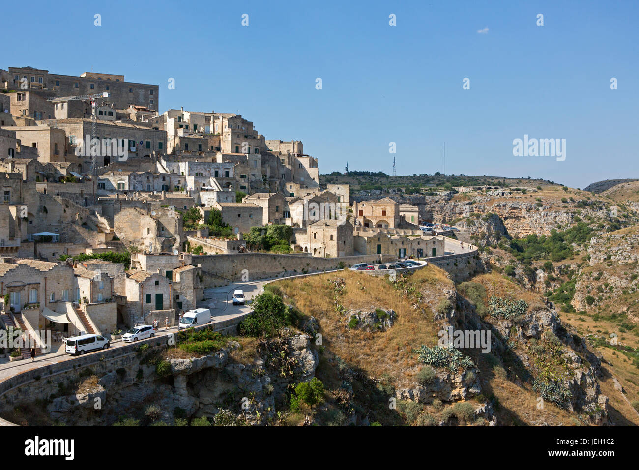 Holiday destination, Matera, Citta' dei sassi, Basilicata, Italy,  World Heritage Site by UNESCO since 1993 - Stock Image