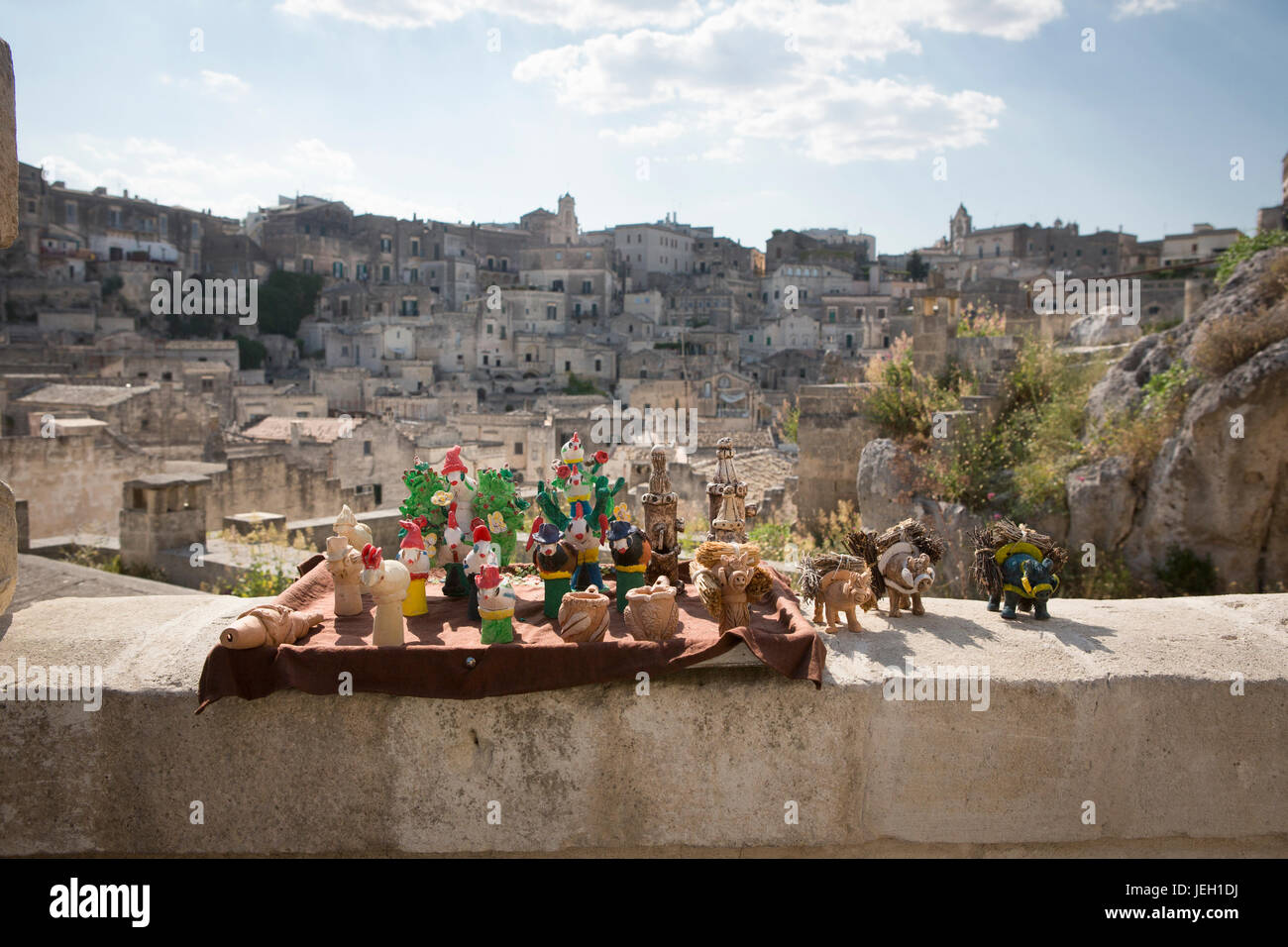 Holiday destination, Matera, Citta' dei sassi, Basilicata, Italy,  World Heritage Site by UNESCO since 1993 Stock Photo