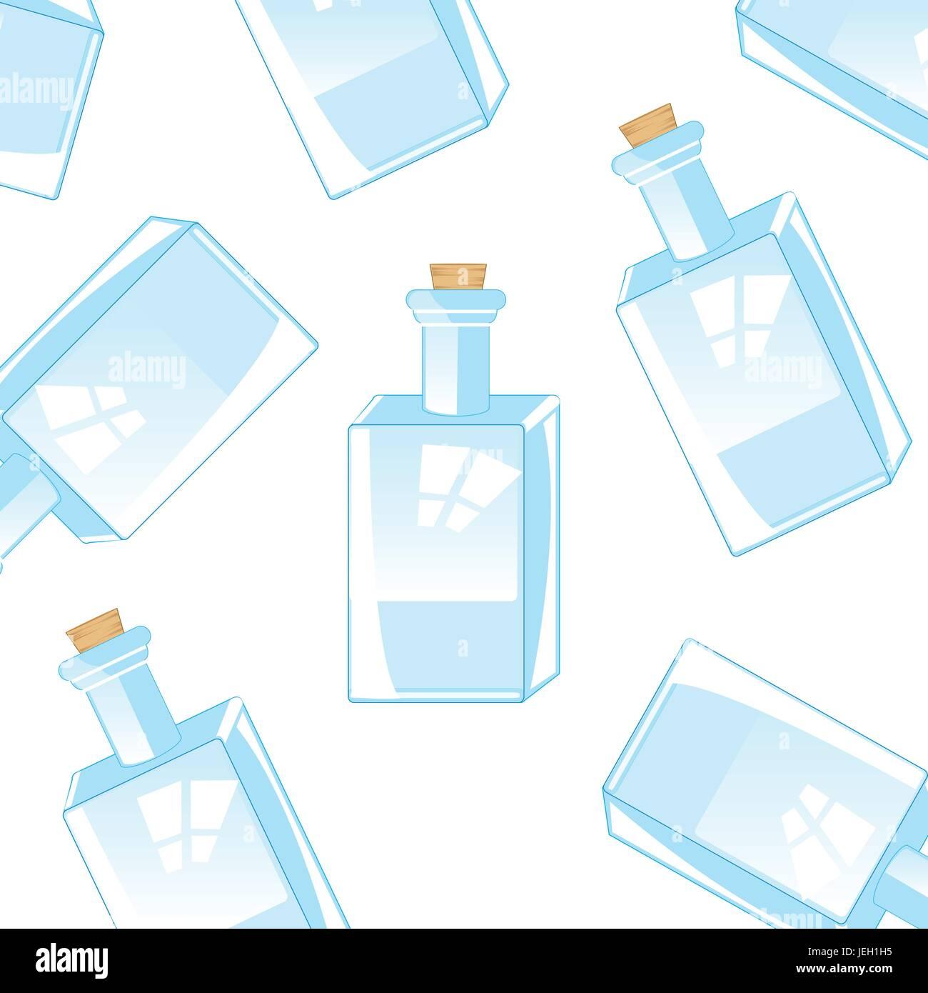 Background from glass bottles - Stock Vector