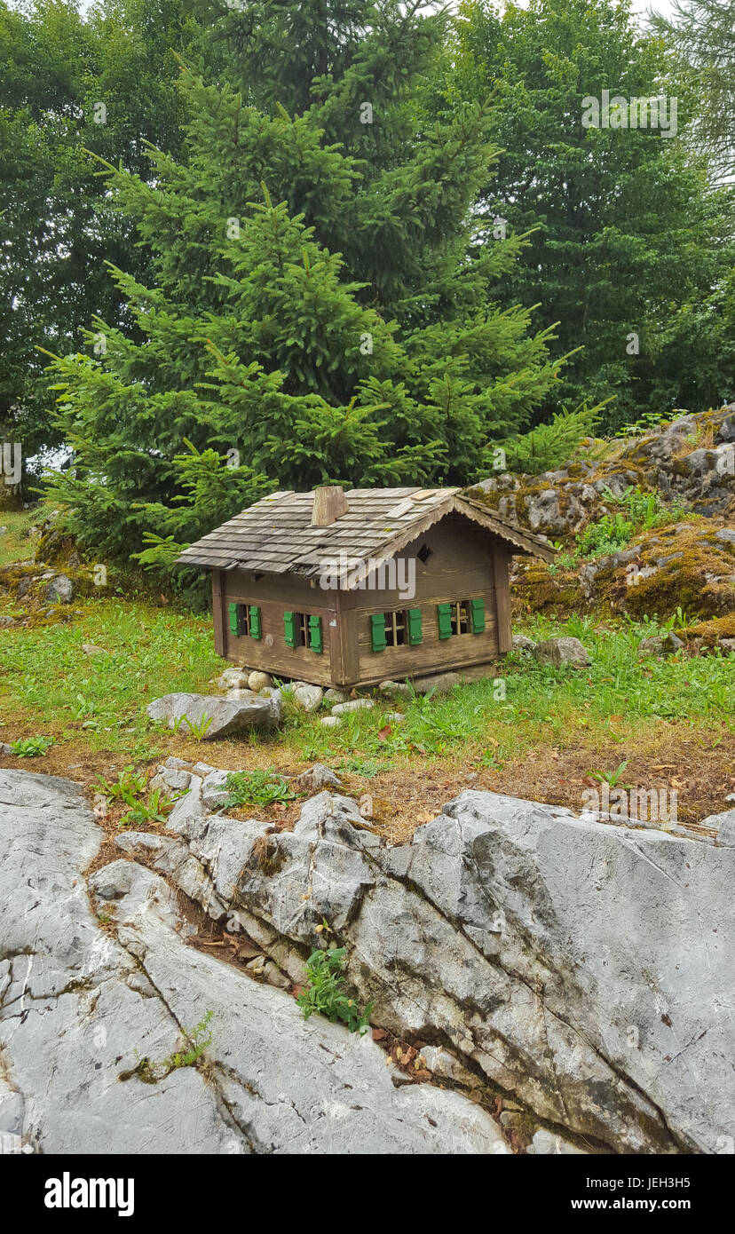 Isolated Cabin in the woods - Stock Image